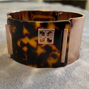 Tory Burch Rose Gold/ Tortoise Shell Cuff
